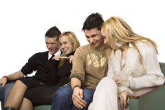 Friends on the couch Royalty Free Stock Images