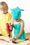 Friends on creative lesson Royalty Free Stock Photo