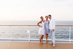 Friends cruise ship Stock Photo