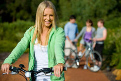 Friends Cycling Royalty Free Stock Photography