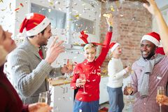 Friends dancing Royalty Free Stock Images