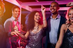 Friends dancing at party Royalty Free Stock Photography