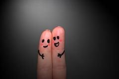 Friends in the dark royalty free stock photography