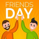 Friends day concept background, cartoon style stock illustration