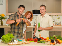 Friends at dinner party Royalty Free Stock Images