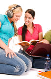 Friends are doing homework Royalty Free Stock Images