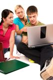Friends are doing homework Royalty Free Stock Photography