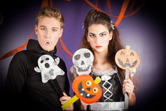 Friends dresses for hallowen Royalty Free Stock Images