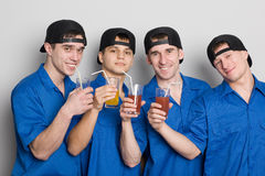 Friends drinking juice Royalty Free Stock Photography