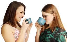 Friends drinking tea Stock Photos