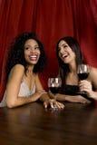 Friends drinking wine Stock Photos