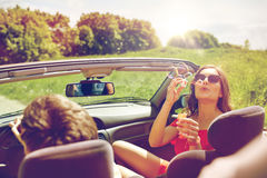 Free Friends Driving In Car And Blowing Bubbles Royalty Free Stock Image - 92017476