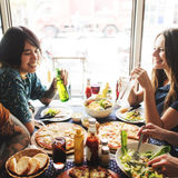 Friends Eating Pizza Party Together Concept Royalty Free Stock Photos