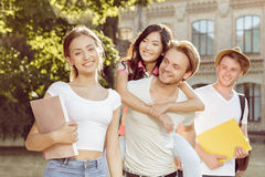 Friends enjoyed a good summer days Royalty Free Stock Photo