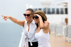 Friends enjoying cruise Stock Photography