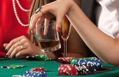 Friends enjoying a gambling Royalty Free Stock Photography