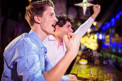 Friends enjoying in nightclub Royalty Free Stock Image