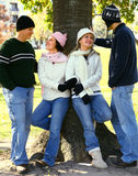Friends Enjoying Park Royalty Free Stock Images