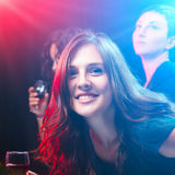 Friends enjoying a party in nightclub Stock Image