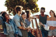 Free Friends Enjoying Themselves On A Vacation Stock Images - 119546344