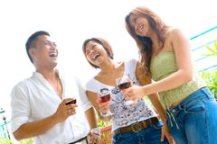 Friends enjoying time socializing Stock Image