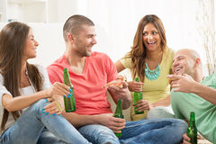 Friends enjoying time together Stock Photos