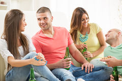 Friends enjoying time together Stock Images