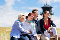 Friends enjoying vacation at German north sea Stock Image