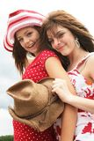 Friends for ever. Complicity between two beautiful teenager stock image