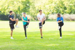 Friends exercising together Royalty Free Stock Image