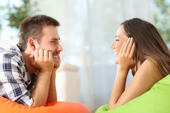 Friends falling in love at home Stock Photography