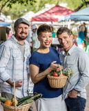 Friends at Farmers Market Stock Photo