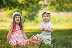 Friends on the field Royalty Free Stock Photography