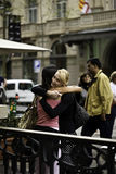 Friends find themselves in the ramble,Barcelona Stock Images
