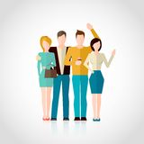 Friends Flat Illustration Stock Photo