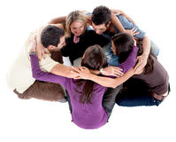 Friends on the floor Royalty Free Stock Image