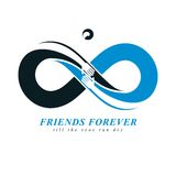 Friends Forever, everlasting friendship, beautiful vector logo c Royalty Free Stock Photo