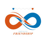 Friends Forever, everlasting friendship, beautiful vector logo c Royalty Free Stock Photography