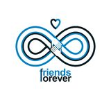 Friends Forever, everlasting friendship conceptual vector symbol Stock Photography