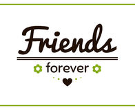 Friends Forever With Flowers Stock Photo