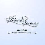 Friends forever for happy valentine's day typography text Stock Photography