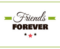 Friends FOREVER Label Royalty Free Stock Images