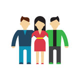 Friends and friendly relationship  icon Stock Photo
