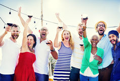 Friends Friendship Celebration Outdoors Party Concept Royalty Free Stock Photo