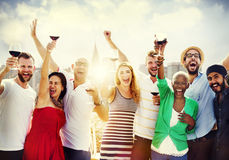 Friends Friendship Celebration Outdoors Party Concept Royalty Free Stock Image
