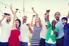 Friends Friendship Celebration Outdoors Party Concept Stock Images