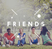 Friends Friendship Colleagues Society Concept Stock Image