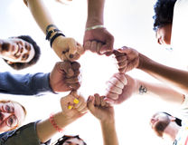 Friends Friendship Fist Bump Togetherness Concept Stock Photos