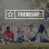 Friends Friendship Friendly Gang Group Concept stock images