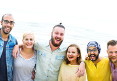 Friends Friendship Huddle Vacations Happiness Concept Stock Photography